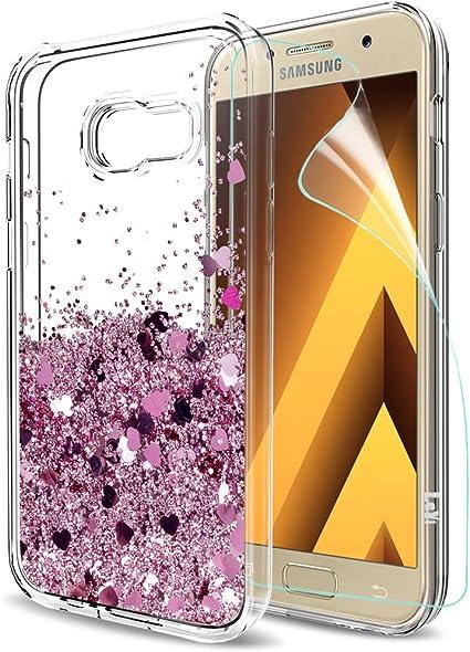 LeYi Funda Samsung Galaxy A5 2017 Silicona Purpurina Carcasa con ...