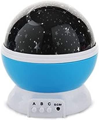 مصباح ال اي دي ليلي وبجهاز يعرض النجوم والقمر والكون وبخاصية الالتفاف حتى 360 درجة، ويمتاز بثلاثة انماط اضاءة، لتزين غرف الاطفال