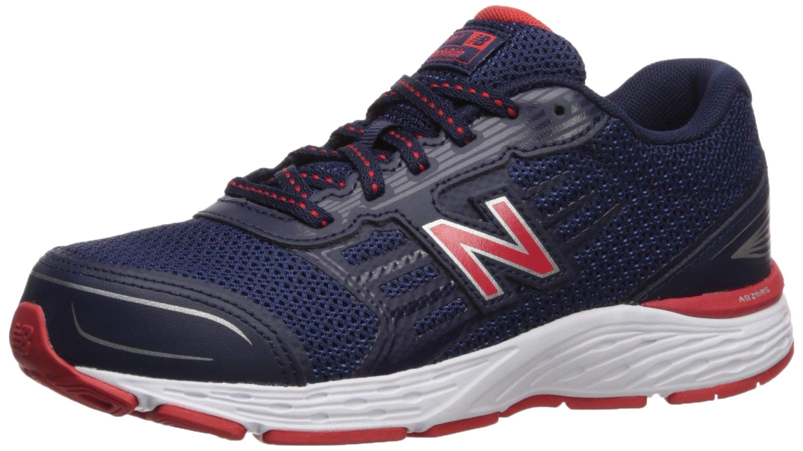New Balance Boys' YP680SP Running Shoe, Pigment/Velocity RED, 155 XW by New Balance