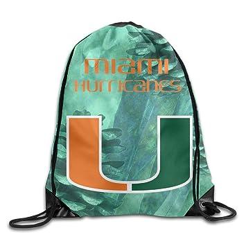 GYM University Of Miami Hurricanes Drawstring Backpack Bag  sc 1 st  Amazon.com & Amazon.com: GYM University Of Miami Hurricanes Drawstring Backpack ...