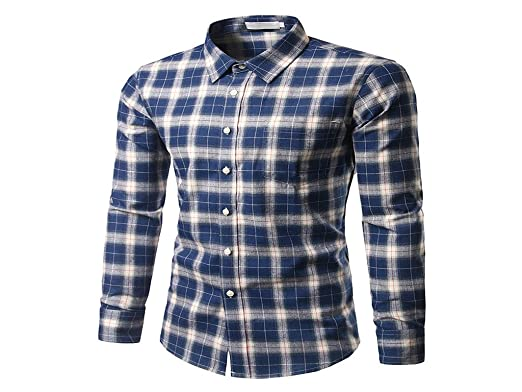 14a64a515c7 Image Unavailable. Image not available for. Colour  Donald Trump 100%  Cotton Tunevuse Brand Plaid Casual Wear Shirt For Menlong Sleeved Autumn  Arrival