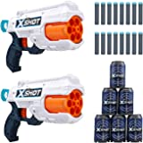 X-Shot Excel Double Reflex 6 Foam Dart Blaster Combo Pack (16 Darts 6 Cans) by ZURU