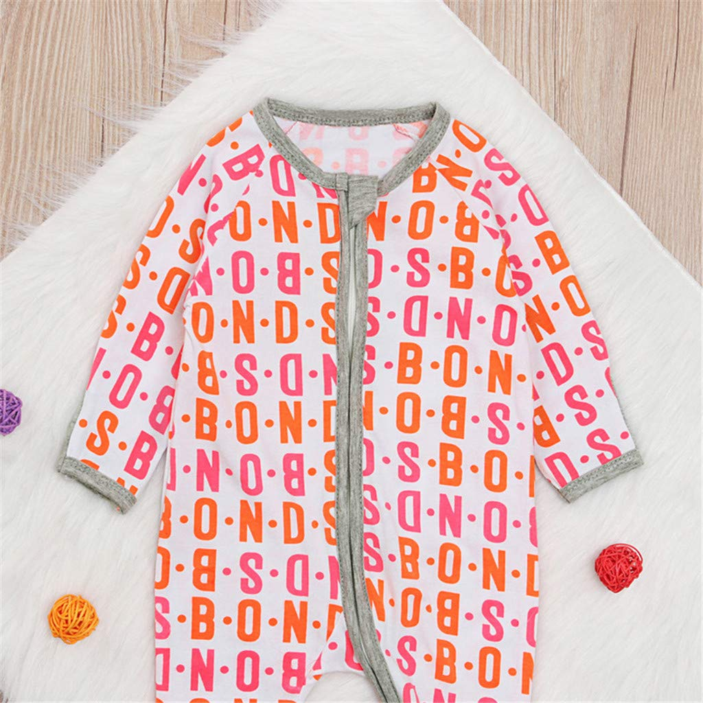 Hot Newborn Infant Baby Girls 0-24 Months Letter Print Romper Bodysuit Jumpsuit Outfits