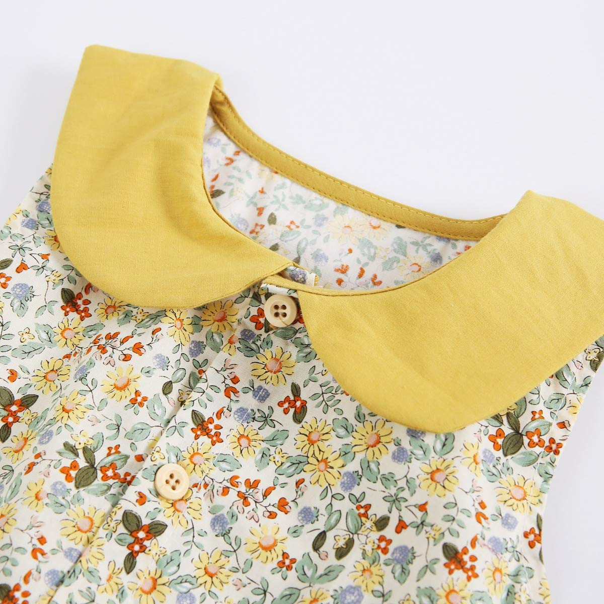Sanlutoz Neugeborene Blumendruck Babyspielanzug Baumwolle Baby M/ädchen Einteilige Kleidung