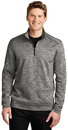 6ca3102485e Sport-Tek PosiCharge Electric Heather Fleece 1 4-Zip Pullover-ST226-XS at  Amazon Men s Clothing store