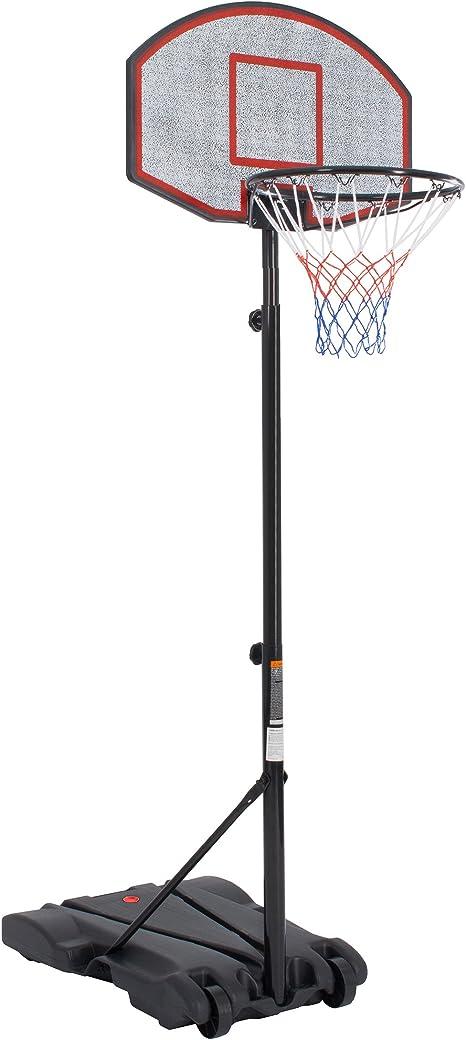 Ultrasport Canasta de baloncesto, canasta estable y transportable ...