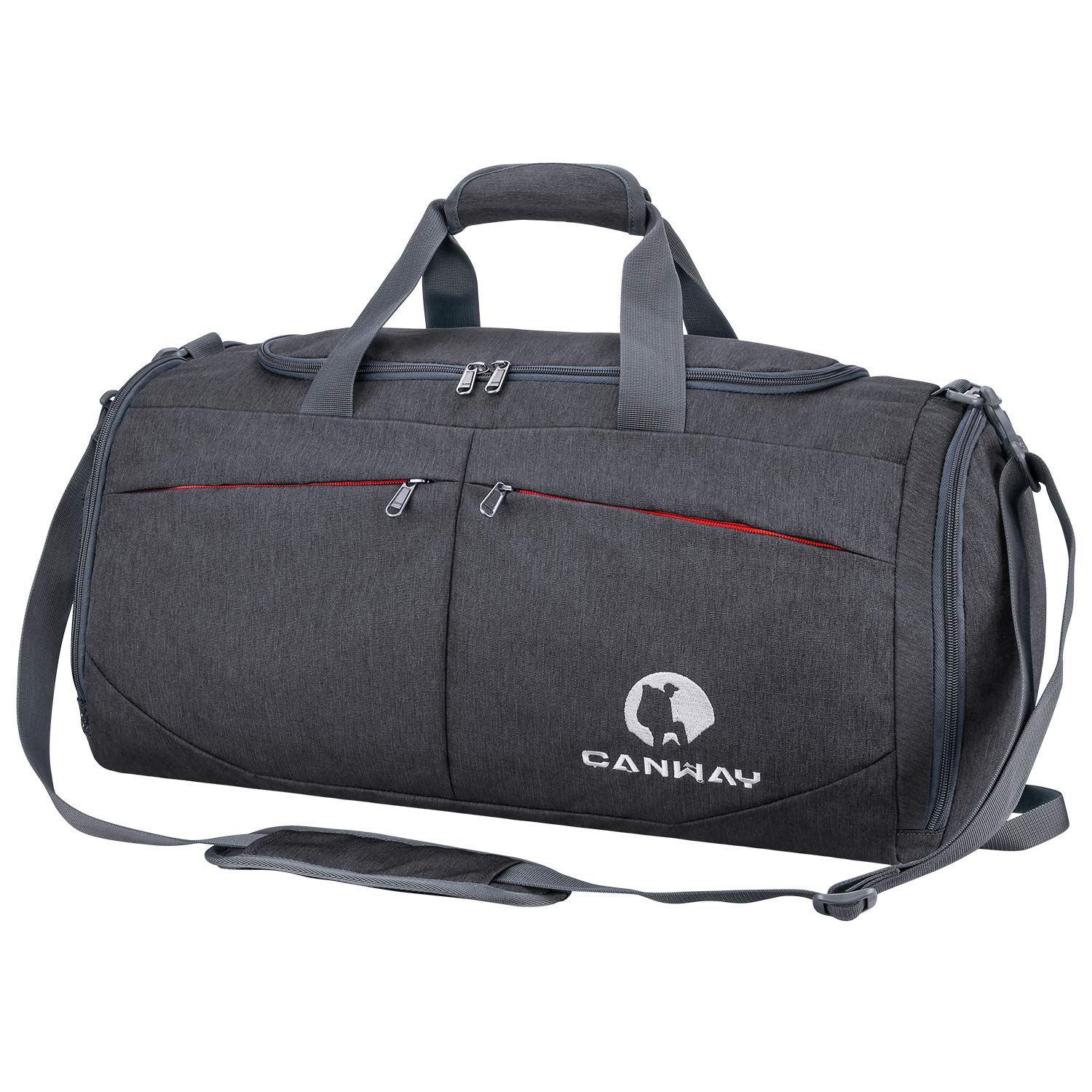 Canway Sports Gym Bag, Travel Duffel bag with Wet Pocket & Shoes Compartment for men women, 45L, Lightweight by CANWAY