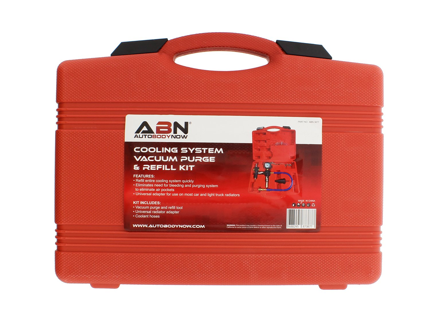 ABN Cooling System Vacuum Purge and Refill Kit with Carrying Case Car Light Truck Radiator 4350283722 Van SUV