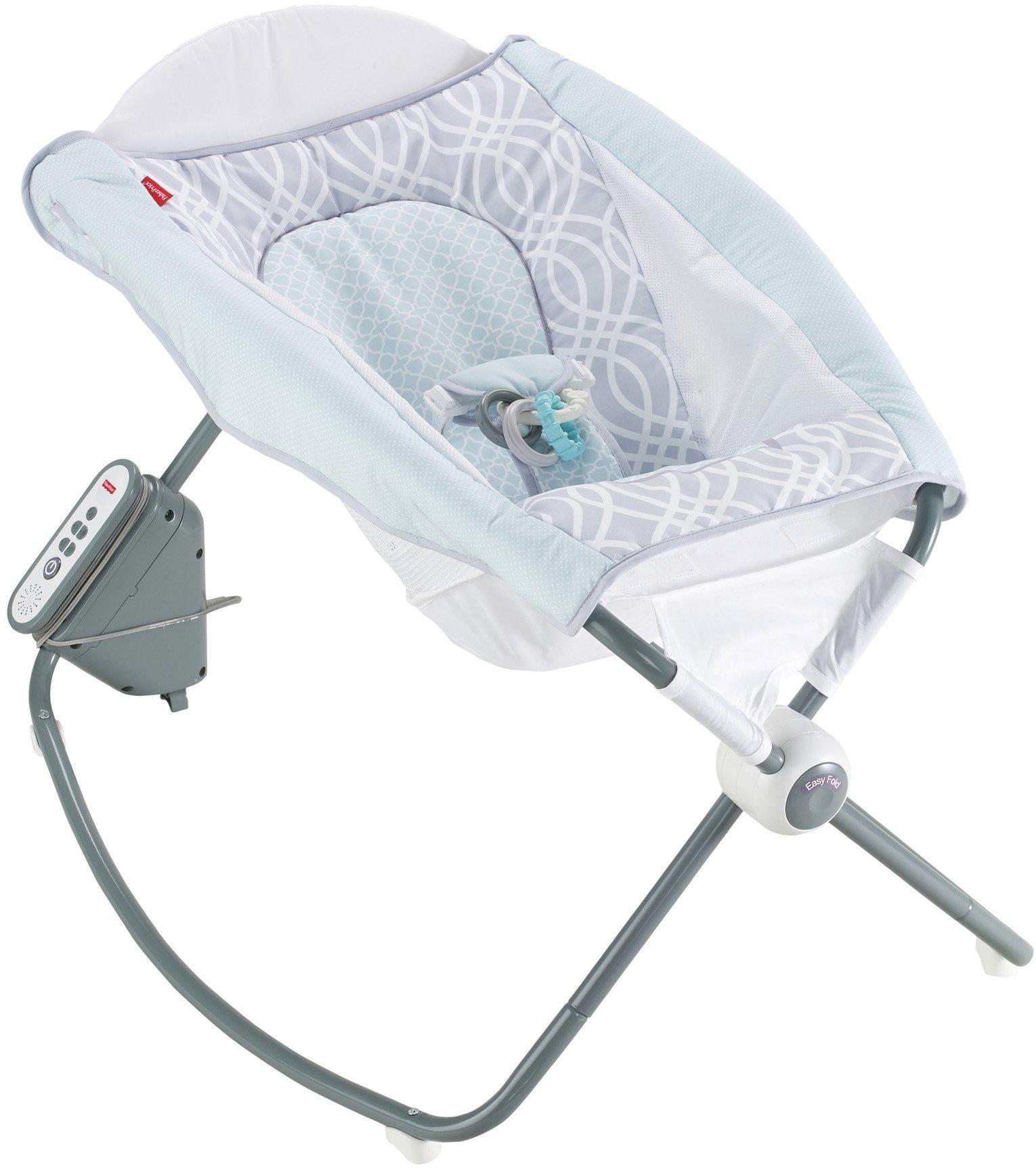 Fisher-Price Newborn Auto Rock 'n Play Sleeper, Blue/Grey