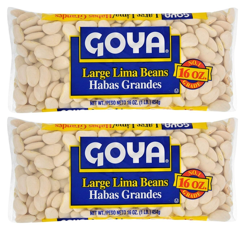 Goya Large Lima Beans 1lb (Pack of 02)