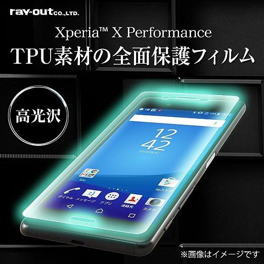 9e6243a9c2 Amazon   レイ・アウト Xperia X Performance フィルム 液晶保護 TPU・光沢・フルカバー RT-RXPXPF/WZ1    家電&カメラ オンライン通販