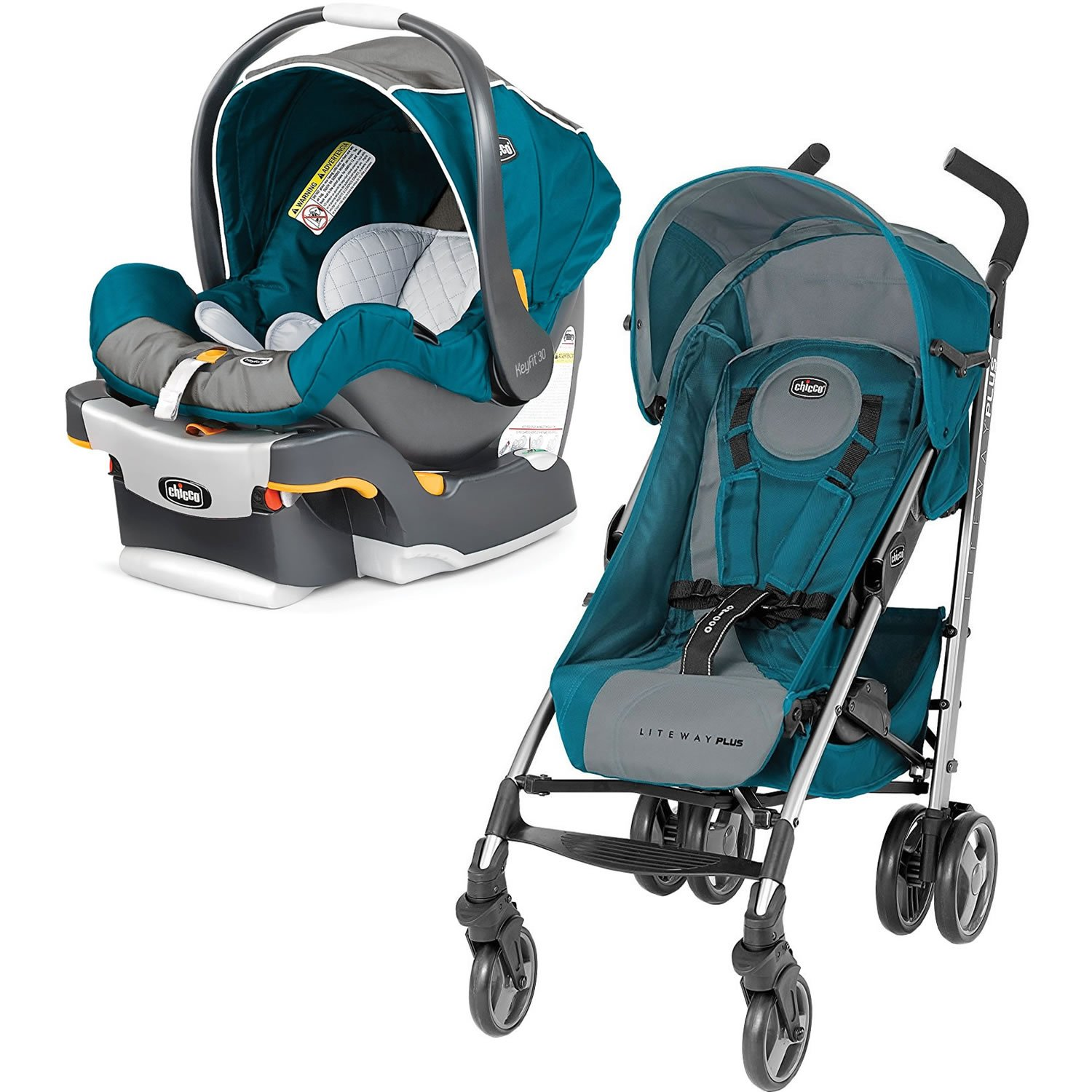 Amazon Chicco Liteway Plus Stroller Polaris With KeyFit 30 Infant Car Seat Polaris Baby