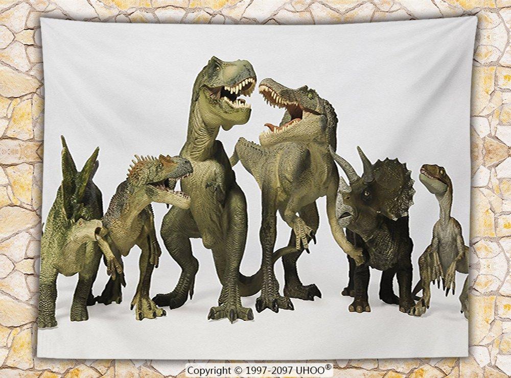 Boys Teens Kids Room Animal Decor Fleece Throw Blanket Dinosaurs T-Rex Jurassic 3D Dino Fossil Art Design History Throw by iPrint (Image #1)