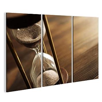 islandburner Cuadro Cuadros Vintage Reloj de Arena de la Sepia Am Impresión sobre Lienzo - Formato Grande - Cuadros Modernos: Amazon.es: Hogar
