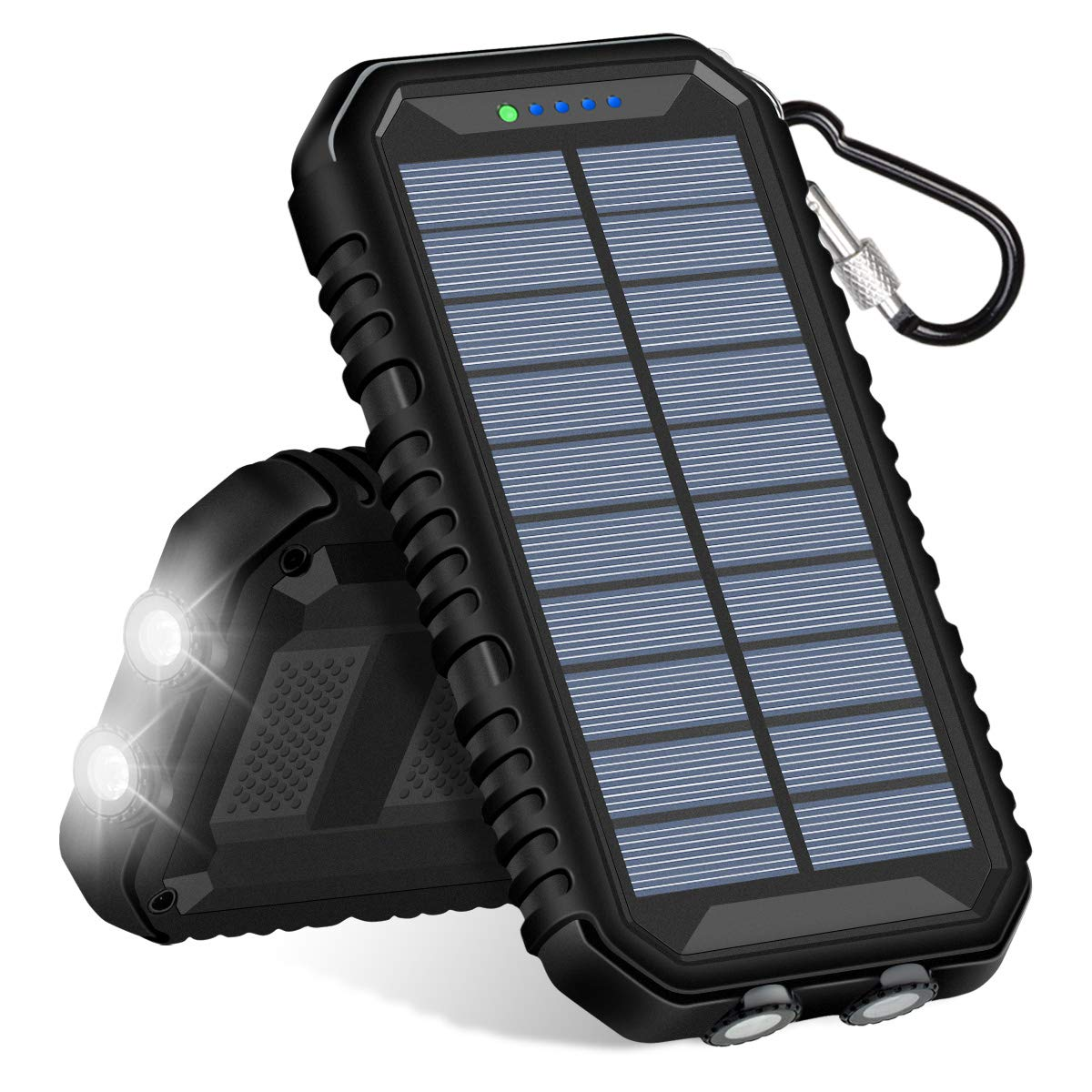 Solar Charger 15000mAh, SOARAISE Portable Power Bank with 2.4A Outputs Waterproof Phone Charger for Smart Phones and Outdoor Camping