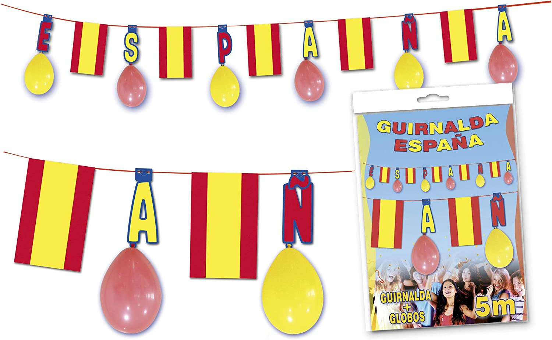 GLOBOLANDIA Guirnalda España 5 Metros: Amazon.es: Juguetes y juegos