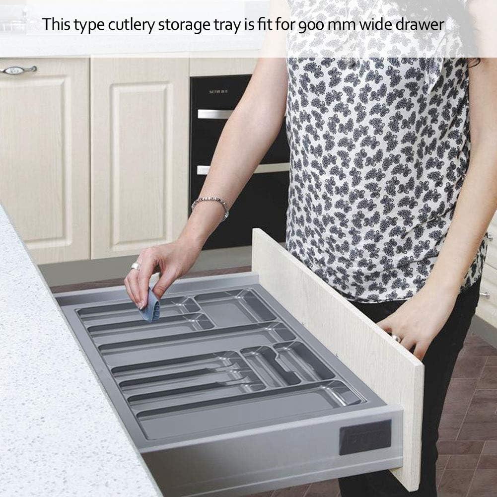 400-900 mm Grau 800 mm Besteckkasten aus hochwertigem Kunststoff