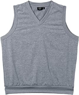 product image for Akwa Men's Water Repellent Chambray V-Neck Vest Made in USA