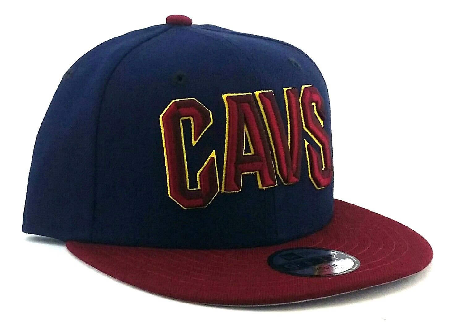 6532ec421f62f Amazon.com   New Era Cleveland Cavaliers Youth Kids 9Fifty Jr Blue Wine Red  Gold Snapback Hat Cap   Sports   Outdoors