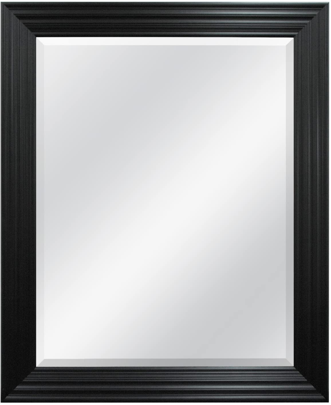 MCS Ridged Wall Mirror, 28 by 34-Inch, Brushed Black