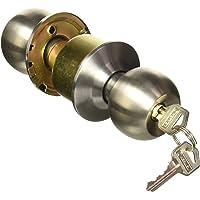 Hermex Basic BAL-CM-EP, Cerradura de pomo tipo esfera para entrada, mecanismo cilíndrico, cromo mate