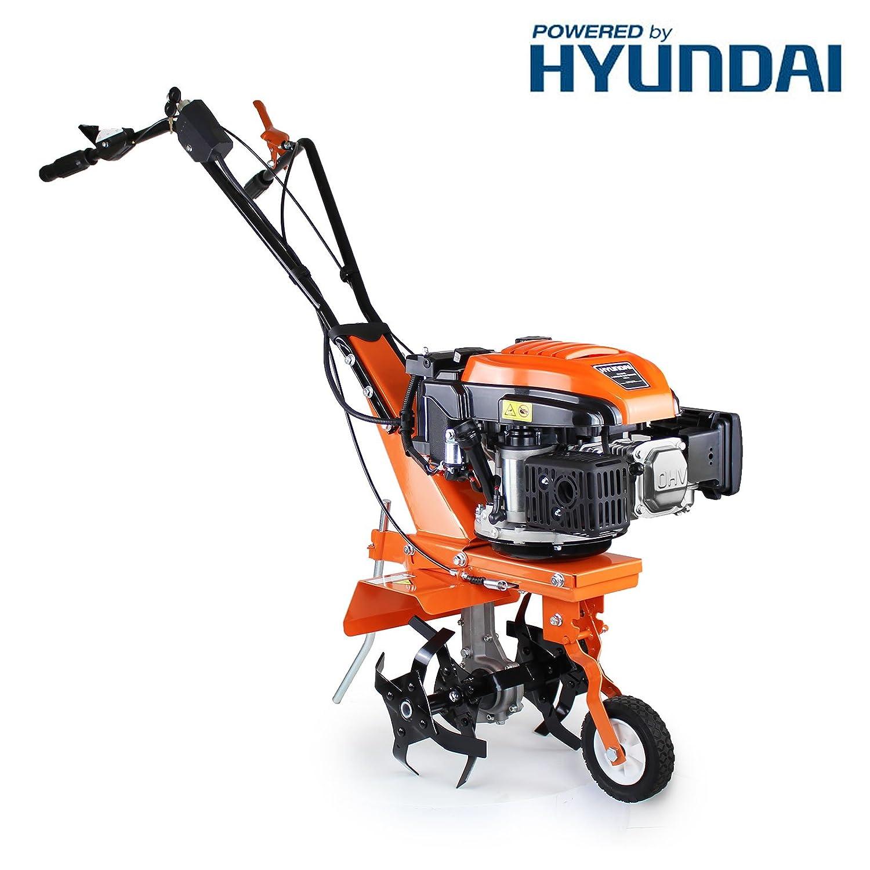 P1PE P140T 139 cc 4 Stroke Hyundai Powered Petrol Tiller/Rotovator, Orange