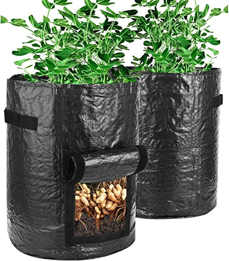 1//2//3//5//7 Gallon Black Fabric Pots Garden Plant Bag Pouch Pot Container YU
