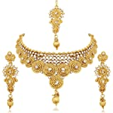 Reeva Gold Plated Austrian Diamond Necklace Sets For Women