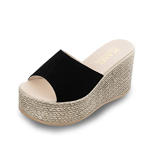 b4996ea5685 NeeKer Shoes Edition Waterproof Ladies Slippers Out Email Platform Wedge  Sandals Thick High-Heeled Platform