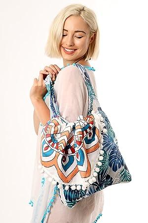 Style Slice toalla de playa y bolsa 2 en 1, bolso de hombro, bolso de lona ...