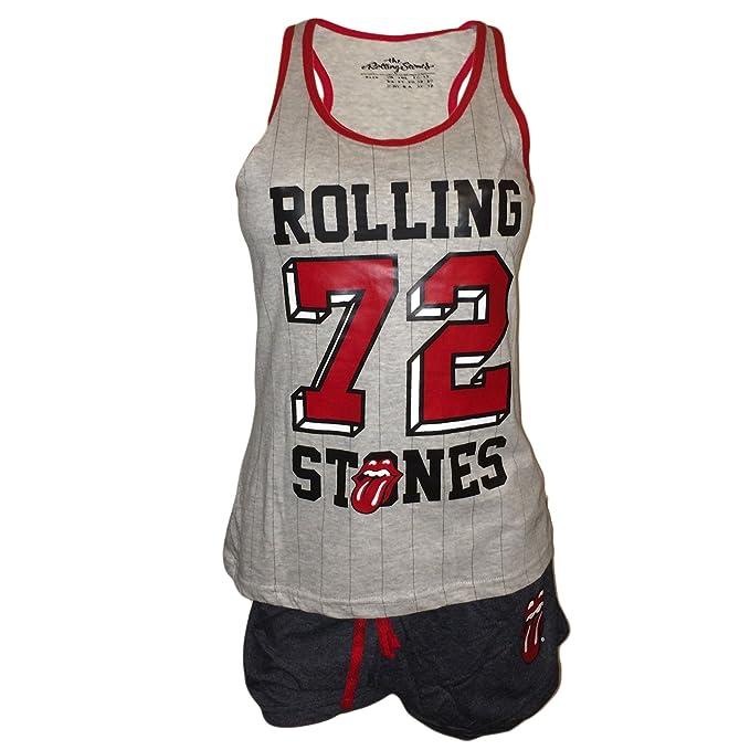 Love to Lounge Mujer Pijama/Shortie Rolling Stones, tamaño XS – XL gris 38