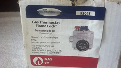 Gas Thermostat Whirlpool Flamelock 92043