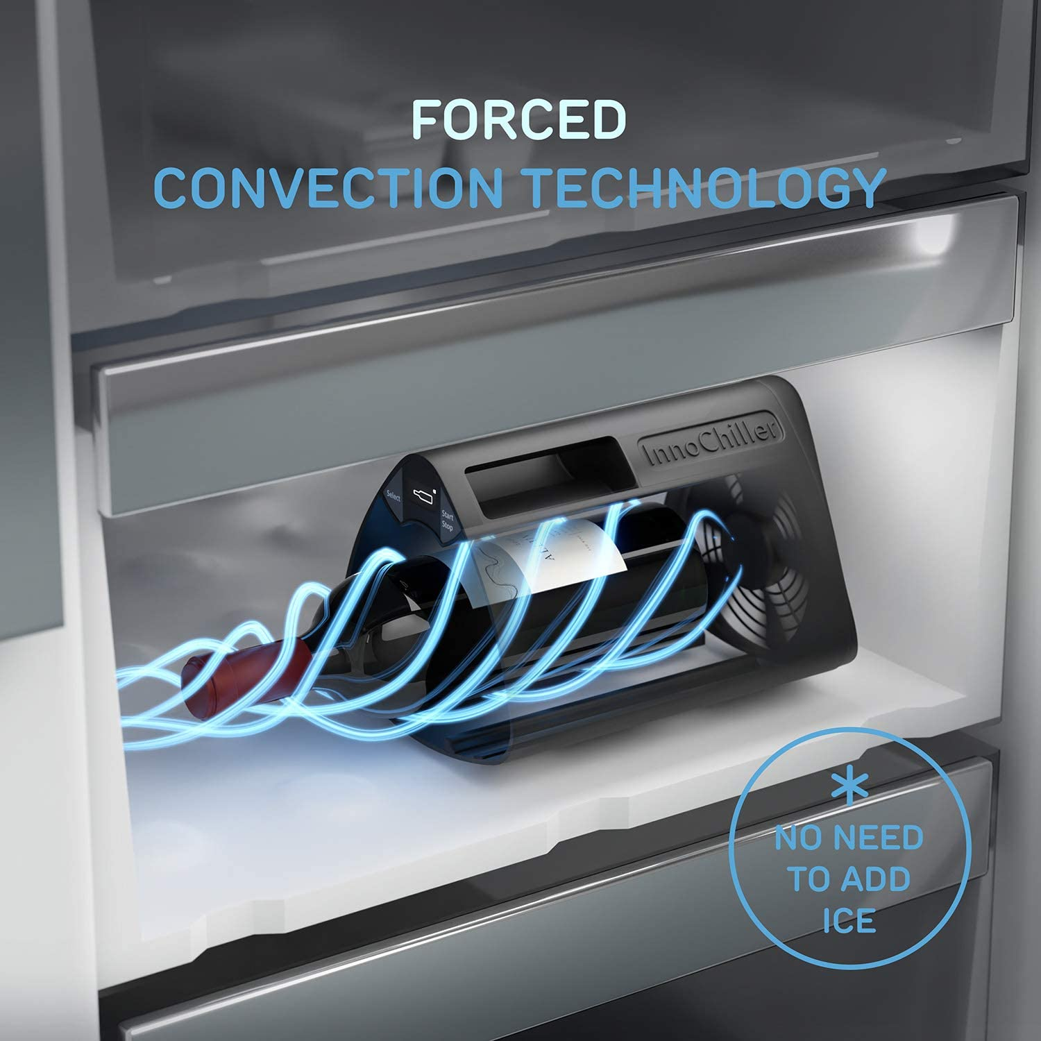 The InnoChiller – Speed Up Your Freezer, for All Types of Beverages, Wine Chiller, Beer Cooler, Ice Cube Maker, Cool Down up to 6 beers at a time