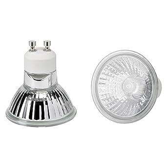 Halogen Leuchtmittel GU10-28=35 Watt - 2.600-2.800 Kelvin Warmweiss, 370 Lumen - DIMMBAR - 15er Set