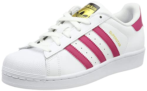 ADIDAS ORIGINALS SUPERSTAR Adulti In Pelle Bianco TG 7 a 13 UK
