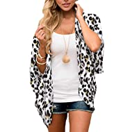 BB&KK Women Floral Kimono Cardigan Chiffon Casual Loose Open Front Cover Up Tops