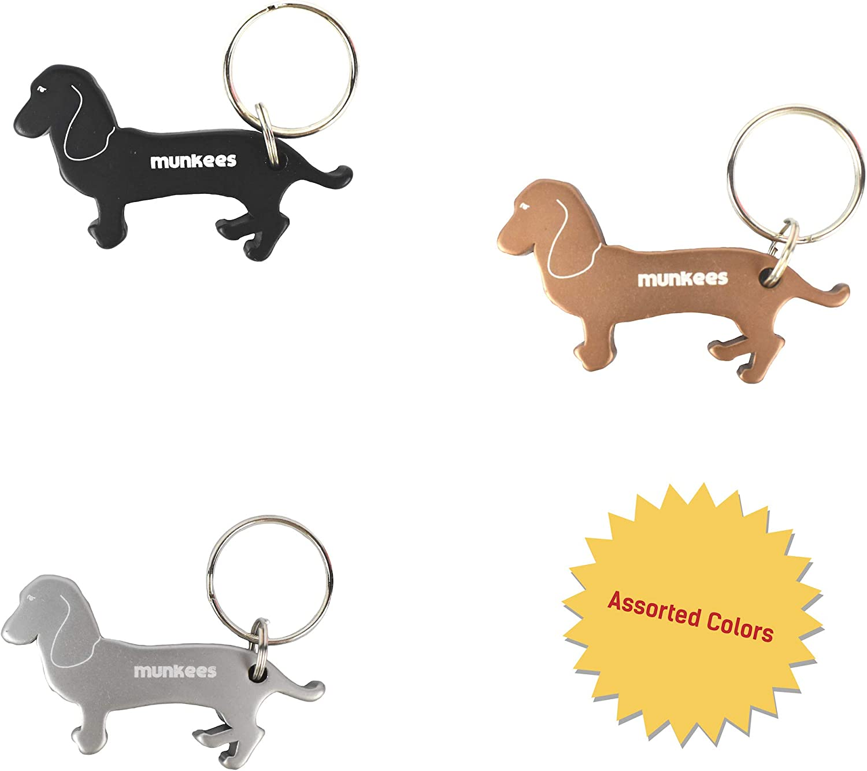 AD-GS2MBO German Shepherd Puppy Chrome Metal Bottle Opener Keyring in Box Gift