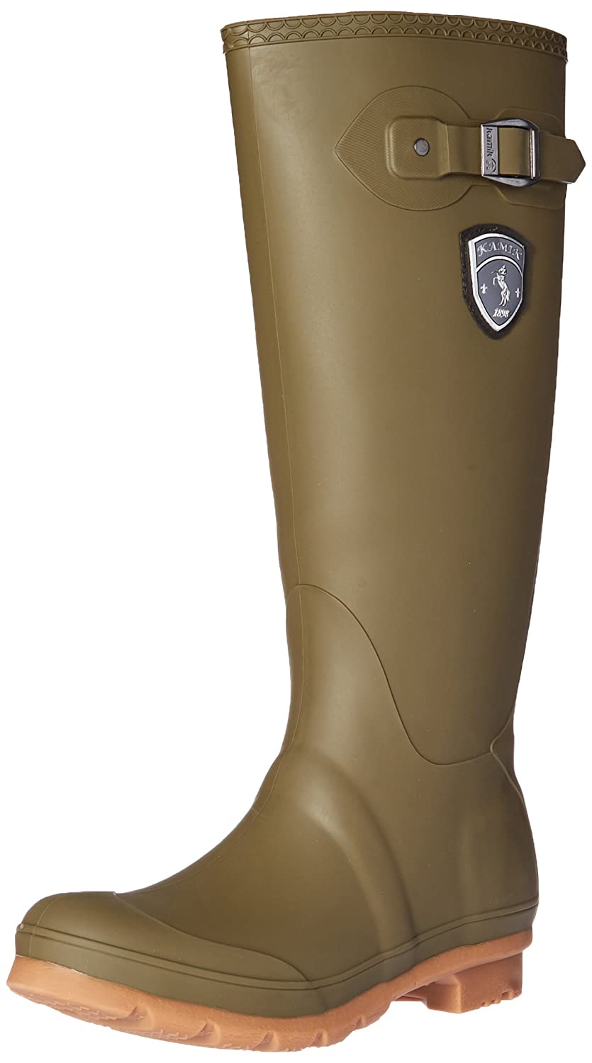 Kamik Women's Waterproof Jennifer Rain Boot B01HO0VVZQ 8 B(M) US|Olive/Gum