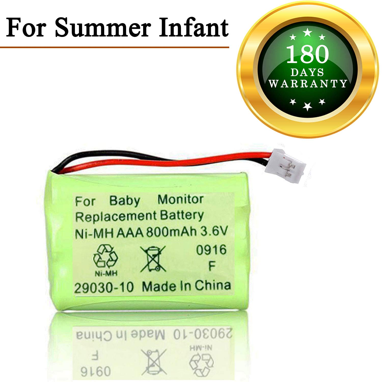 for Summer Infant Baby Monitor Replacement Battery for Summer Infant Wide View 28650 29000 29000A & Clear Sight 29040 29030 Parent Handheld 3.6V 800mA