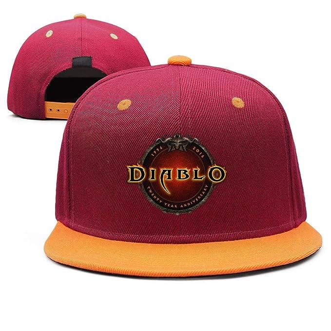 0a78d129 Diablo-3-Logo- Flat Bill Adjustable Hat Snap Snapback Cap Men ...