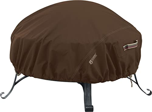 Classic Accessories 55-834-056601-RT Madrona Waterproof 60 Inch Round Fire Pit Cover