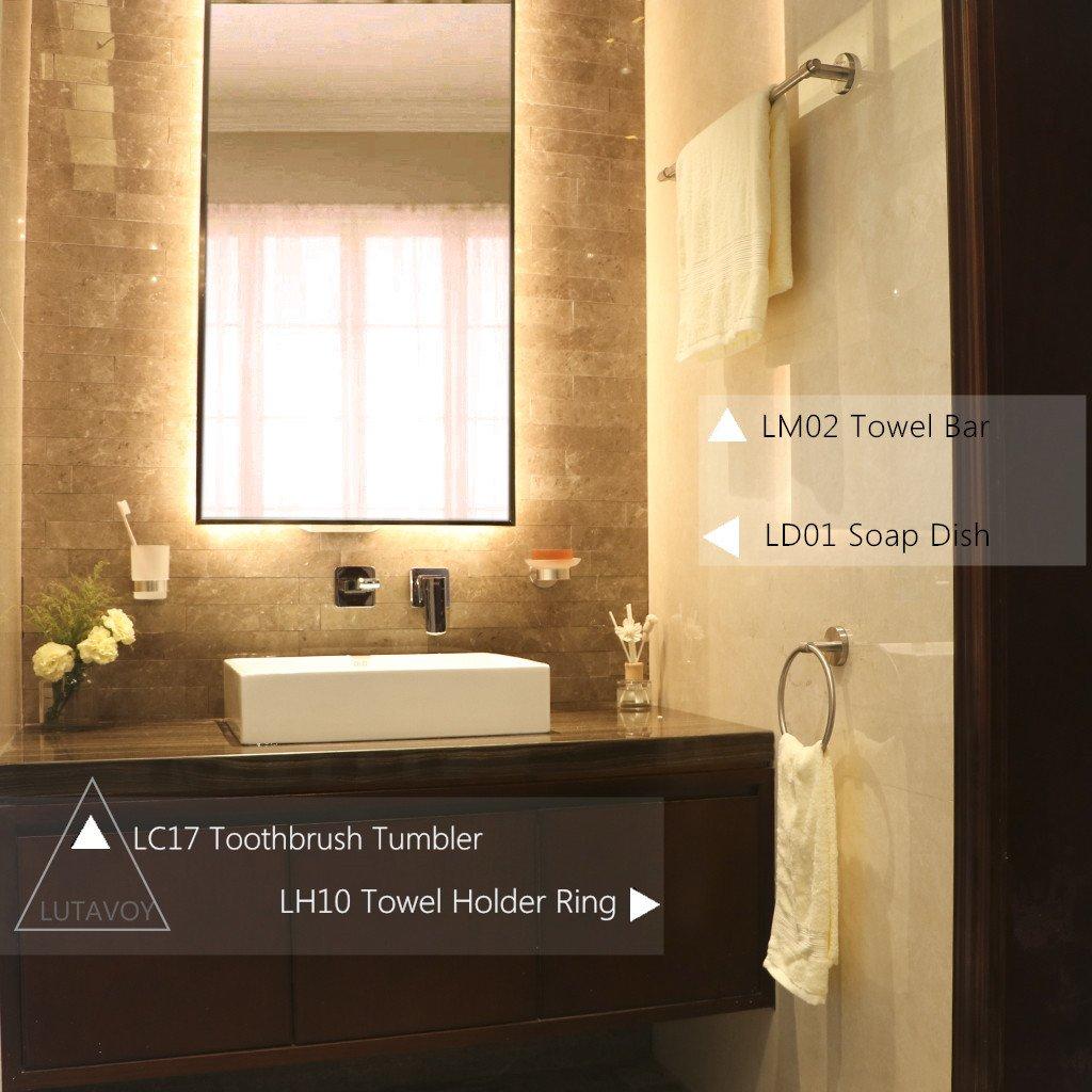 Amazon.com: Towel Rod 24inch Towel Bar Towel Holder Rail LUTAVOY ...