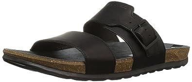 Merrell Men's Downtown Slide Buckle Sandal, Black, ...