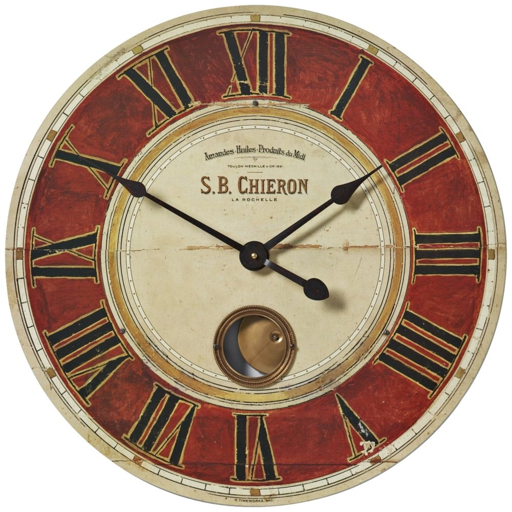 Amazon uttermost sb chieron 23 inch wall clock home kitchen amipublicfo Choice Image