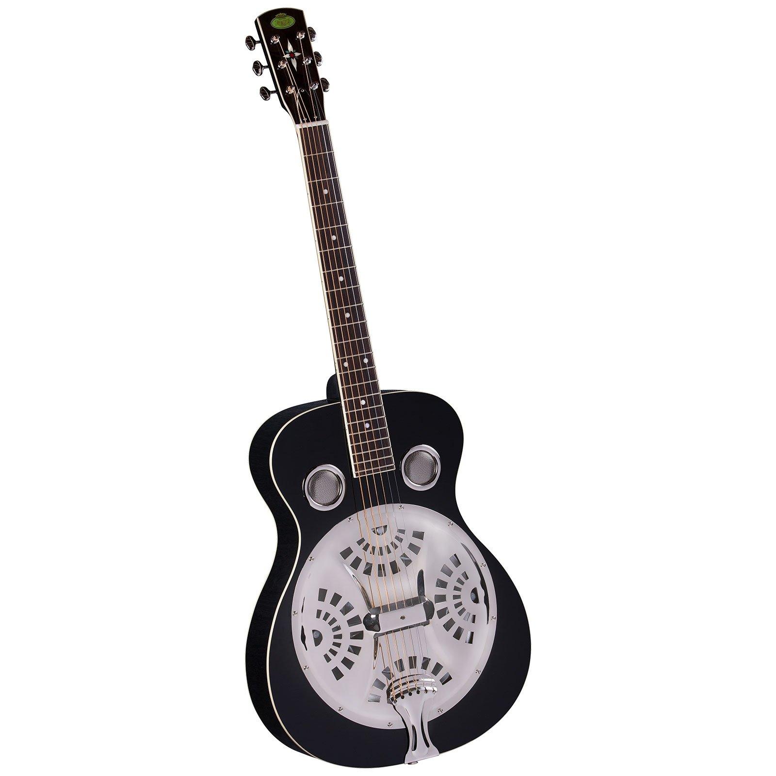 Regal RD-40B Studio Series Roundneck Resophonic Guitar - Black