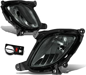 Replacement for Genesis Coupe Pair of Bumper Driving Fog Lights w/Switch (Smoke Lens)