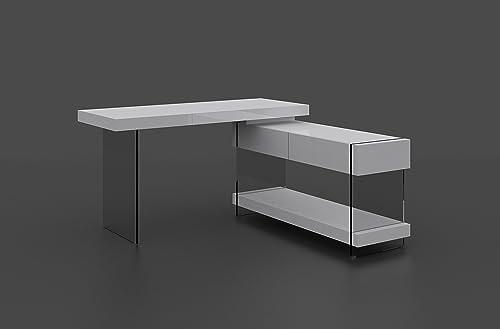 J and M Furniture CE Cloud Lacquer Finish Desk