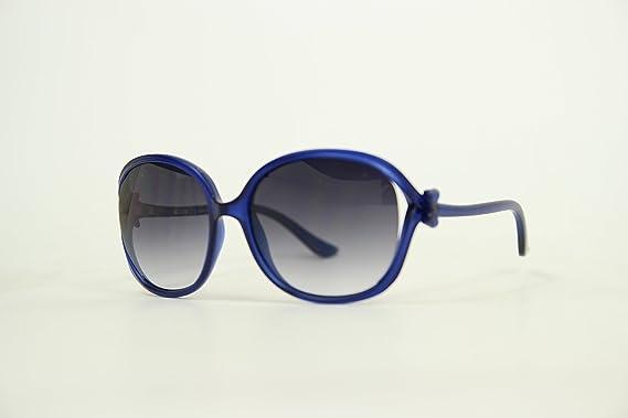 Moschino Damen MO-61508-S Sonnenbrille, Blau (Navy), 58
