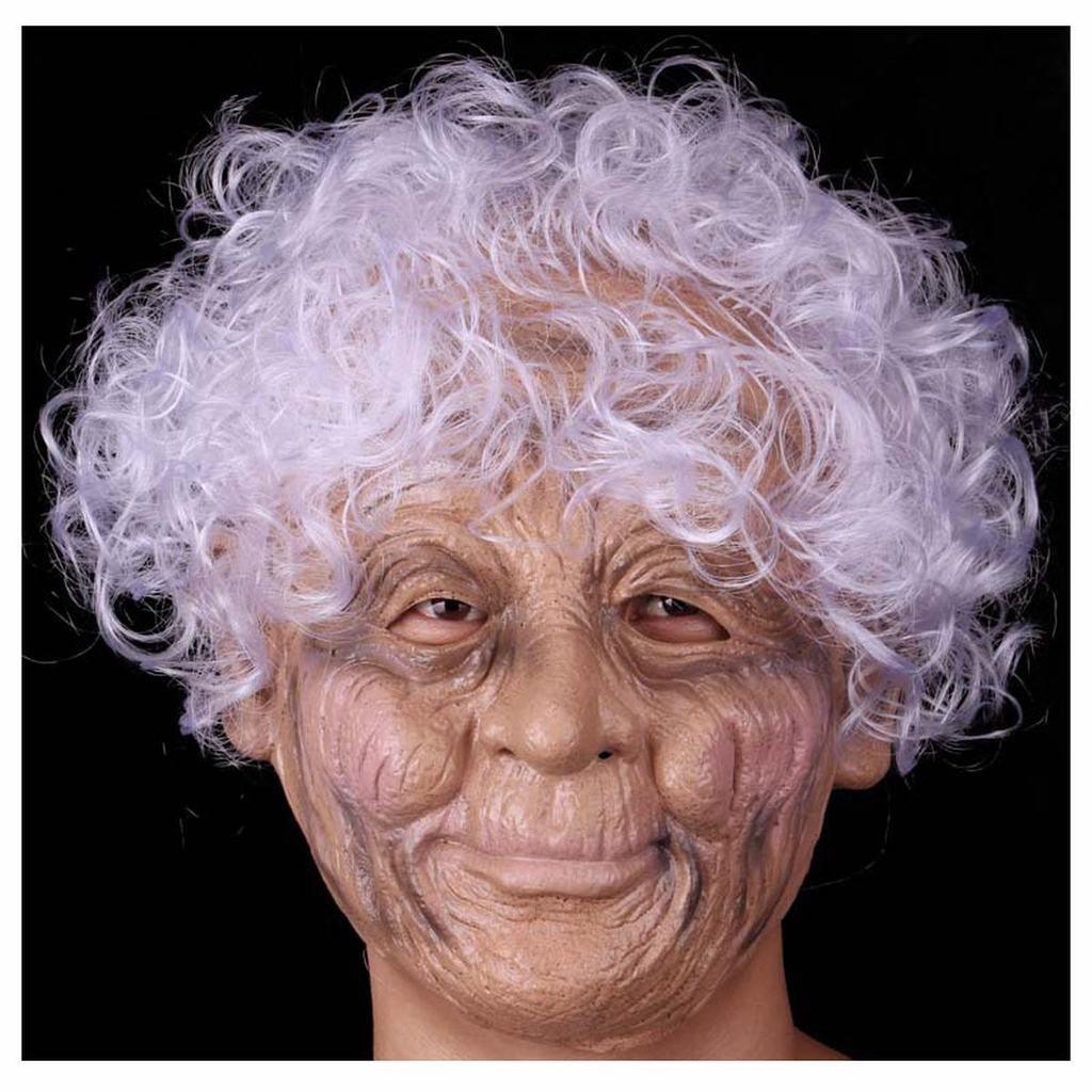 Naray Old Nana Mask Men's Supersoft Latex Mask Head