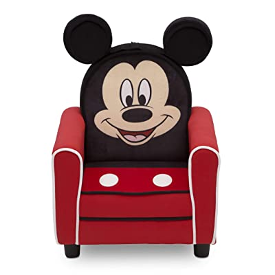 Delta Children Figural Upholstered Kids Chair, Disney Mickey Mouse : Baby